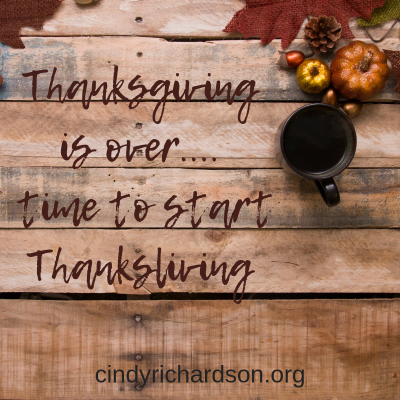 Time to start Thanksliving